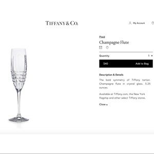 NEW TIFFANY & CO CHAMPAGNE FLUTES